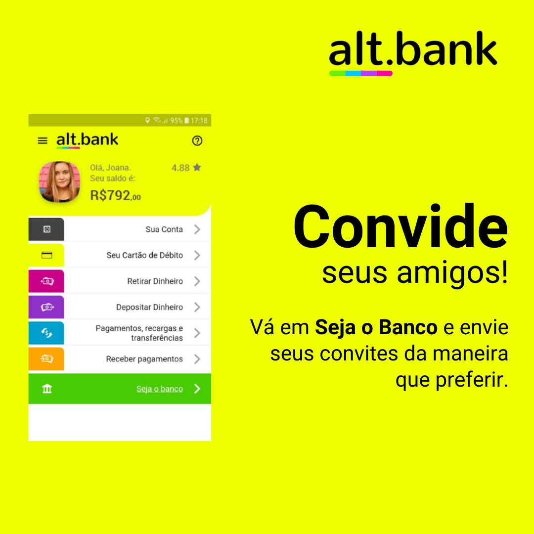 convide amigos altbank